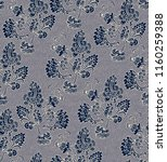 seamless vector indian floral... | Shutterstock .eps vector #1160259388