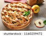 wooden board with delicious... | Shutterstock . vector #1160259472