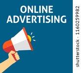 online advertising announcement.... | Shutterstock .eps vector #1160259982