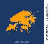 hongkong map   high detailed... | Shutterstock .eps vector #1160260978