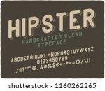 vintage label font with 3d... | Shutterstock .eps vector #1160262265