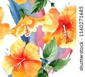 watercolor orange naranja... | Shutterstock . vector #1160271685