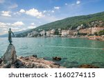 view from promenade in opatija... | Shutterstock . vector #1160274115