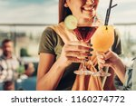 taste good. close up of women... | Shutterstock . vector #1160274772