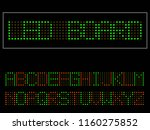 vector of modern led font and... | Shutterstock .eps vector #1160275852