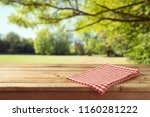 Empty Wooden Table With...