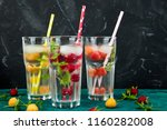detox infused flavored water...   Shutterstock . vector #1160282008