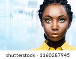 close up portrait of attractive ...   Shutterstock . vector #1160287945