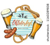 oktoberfest celebration... | Shutterstock .eps vector #1160289838