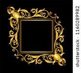 gold vintage frame on black | Shutterstock .eps vector #1160289982