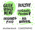 green veggie menu  organic food ... | Shutterstock .eps vector #1160296942