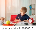 back to school. pupil drawing... | Shutterstock . vector #1160300515