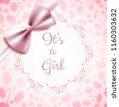 it's a girl baby shower cute... | Shutterstock .eps vector #1160303632