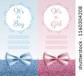 it's a boy girl baby shower... | Shutterstock .eps vector #1160304208