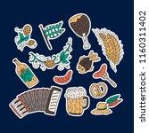 octoberfest beer festival... | Shutterstock .eps vector #1160311402