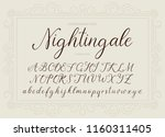 nightingale. handdrawn... | Shutterstock .eps vector #1160311405