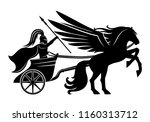 pegasus and an ancient warrior... | Shutterstock .eps vector #1160313712