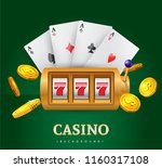vector illustration on a casino ... | Shutterstock .eps vector #1160317108