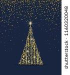 vector illustration christmas... | Shutterstock .eps vector #1160320048