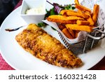 british traditional fish and... | Shutterstock . vector #1160321428