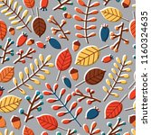 modern seamless pattern with... | Shutterstock .eps vector #1160324635