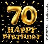 raster copy happy birthday 70th ...   Shutterstock . vector #1160326162