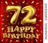 raster copy happy birthday 72th ...   Shutterstock . vector #1160326165