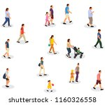 vector  isolated  walking... | Shutterstock .eps vector #1160326558