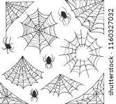 spider web halloween symbol.... | Shutterstock .eps vector #1160327032