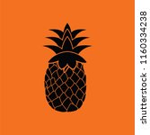 icon of pineapple. orange... | Shutterstock .eps vector #1160334238