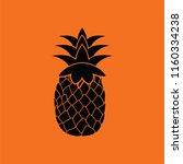 icon of pineapple. orange... | Shutterstock .eps vector #1160334238
