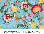 seamless pattern with stylized... | Shutterstock .eps vector #1160356792