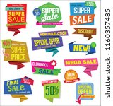 sale stickers and tags colorful ... | Shutterstock .eps vector #1160357485