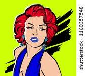 portrait of beautiful sexy... | Shutterstock .eps vector #1160357548