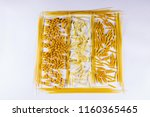 pasta on a white background | Shutterstock . vector #1160365465