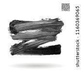 grey brush stroke and texture.... | Shutterstock .eps vector #1160369065