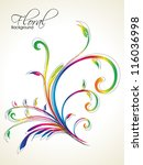 abstract floral background. eps ... | Shutterstock .eps vector #116036998