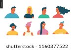 bright people portraits set  ... | Shutterstock .eps vector #1160377522