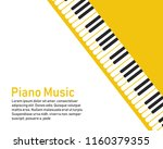 grunge black and white piano... | Shutterstock .eps vector #1160379355