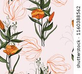 trendy floral pattern. isolated ... | Shutterstock .eps vector #1160388562