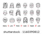 funny people avatars  faces of...   Shutterstock .eps vector #1160390812