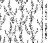 black outline floral seamless... | Shutterstock .eps vector #1160398102