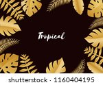 composition with luxury golden... | Shutterstock .eps vector #1160404195
