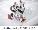 top view.multi ethnic business... | Shutterstock . vector #1160419162