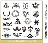 vintage decorative elements... | Shutterstock .eps vector #116042362