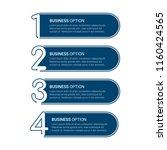 modern infographic options... | Shutterstock .eps vector #1160424565