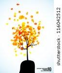 autumn tree background  eps10 | Shutterstock .eps vector #116042512