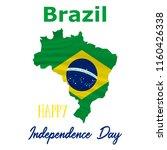 7 september  brazil... | Shutterstock .eps vector #1160426338