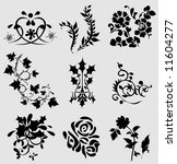 flower elements | Shutterstock .eps vector #11604277