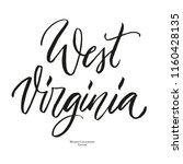 us state name  west virginia ... | Shutterstock .eps vector #1160428135
